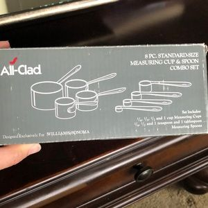 All clad 8 PC measuring cups and spoon combo set